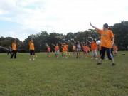 昨年10月、中央公園での練習