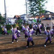 18日「野口町ふれあい祭り」での演舞
